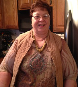 Photo 1. Delores, our main informant, photographed in her home during our interview.