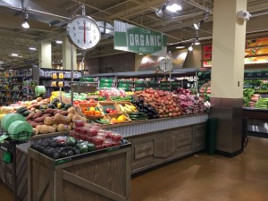 this is another example of what organic products look like at a specialty grocery tore. The products are laid out in a very aesthetically pleasing way that could possibly push people towards buying them.