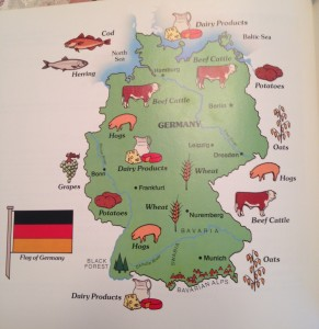 Photo 10. A map of Germany showing various food preferences by region.